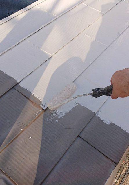 下屋根塗装